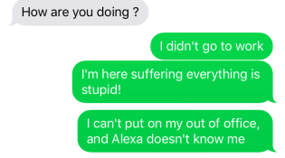 Sickly Text Message 2