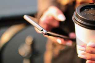 coffee contact email hands