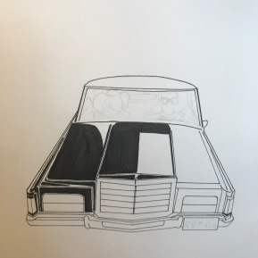 Colouring in of car