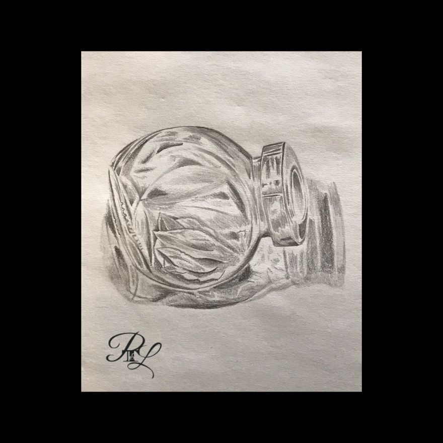 Spice Jar Sketch. This sketch is used to show people my final art work. And then send them to check out my YouTube Channel and TikTok.